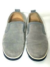 COLE HAAN QUINCY / MENS 7M / GRAY SUEDE LEATHER SLIP ON SNEAKER LOAFERS