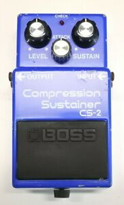 BOSS CS-2 Compression Sustainer Guitar Effects Pedal MIJ 1985 #309 PSA 9V