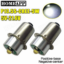 2X 6000K CREE LEDs Bulbs for Panasonic 12V 14.4V 18V Dolphin torch Flash Light