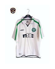 Celtic FC Fußball Away Shirt 2001-2002 (L) Umbro Weiß NTL Trikot