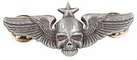 US ARMY 101ST AIRBORNE WING METAL BADGE PARACHUTE SKULL PIN INSIGNIA - 38055