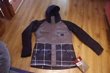 FOURSQUARE Da Donna Crush Snowboard/Ski Jacket In Nero dropstitch PLD grandi