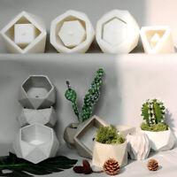 Geometric Flower Pot Mold Silicone Succulent Planter Concrete Vase Gypsum Tool
