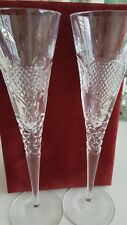 Crystal Champagne glasses Noble Excellence  Velvet Box wedding bride groom gift