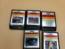 5 Atari TESTED Game Demon Attack Atlantis Star Voyager Cosmic Ark Riddle Sphinx
