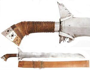 Vintage Philippine Moro Kris Sword Mindanao Sundang Filipino Martial Arts Old
