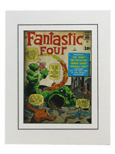 Fantastic Four #1 Cover Art Print Matted Kack Kirby Dick Ayers Marvel Comics New