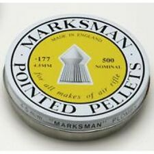 .177 Air Rifle Pointed Pellets Marksman Tins Of 500