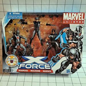 Marvel Universe 3.75 Box Set -  X-Force 3-Pack Deadpool, Wolverine, Warpath