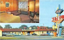 Montreal Quebec Ville Lemoyne Motel Oscar Duo View Old Cars Postcard