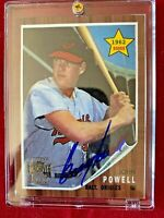 2001 Topps John Powell Orioles Gallery Archives Certified Autograph Card #99