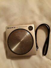 1965 Sony Model #2R-21 Black 8 Transistor Cube AM Radio Japan Vintage  plays!!