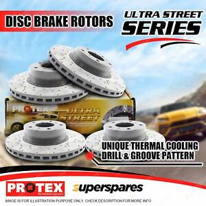 Protex Front + Rear Ultra Disc Brake Rotors for BMW 135i E82 E88 08-on