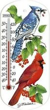 Springfield 90151 Indoor / Outdoor Stick-On Window Bird Tube Thermometer