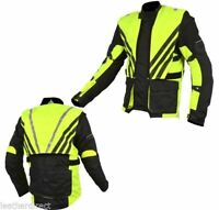 CE Armoured Mens Motorcycle Motorbike Waterproof Black Sports Textile Jacket