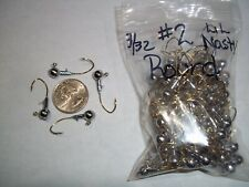 3/32oz #2 ROUND HEAD LEAD HEAD JIG EAGLE CLAW LIL NASTY SICKLE GOLD - 100ct