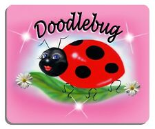 Ladybug Sweetie Mouse Pad Personalize Gifts Ladies Girls Computer Office Flowers
