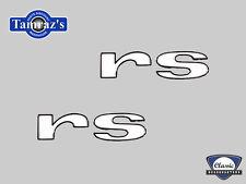 1967 Camaro RS Rally Sport Fender Emblem Letters PAIR