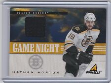11-12 PINNACLE NATHAN HORTON GAME NIGHT MATERIALS JERSEY 15 2011-12 BRUINS