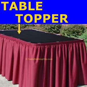 PREMIUM POLYESTER LINEN TABLE SKIRTING TOPPERS - TABLE TOPPER FOR TABLE SKIRTS