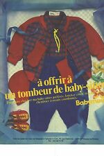 PUBLICITE ADVERTISING 1981  BABYMINI vêtements bébé