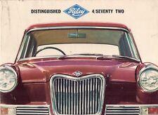 Riley 4/Seventy Two 4/72 1966-69 UK Market Foldout Sales Brochure
