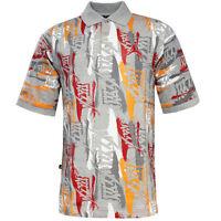 Nike Jordan Mens Cotton All Over Print Polo Shirt 208001 050 M1