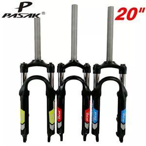"""Mountain Bike Shock Absorber Fork Hard And Soft Adjustable 20 """"Folding Bike Fork"""