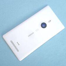 100% Original Nokia Lumia 925 trasera cubierta de batería + Cámara De Vidrio + Flash Blanco