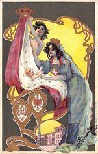 0182) ALLEGORICA DI BALLERIO 1901 NASCITA DELLA PRINCIPESSA IOLANDA DI SAVOIA VG