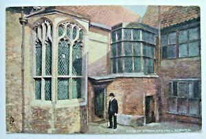Art Postcard - BACK OF STRANGER'S HALL, NORWICH, NORFOLK, Tuck's - (ATUK1-10)