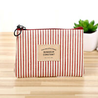 Women's Coin Key Holder Case Small Retro Canvas Purse Mini Bags Lady Zip Wallet