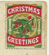 CHRISTMAS GREETINGS. CINDERELLA/LABEL. MISTLETOE/HOLLY. ON PC. RURAL WINTER VIEW