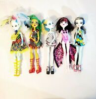Monsters High Lot - Lagoona Blue Jinafire Long Draculaura Frankie Stein Clothed