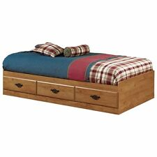 South Shore Prairie Mates Twin Platform Bed, Country Pine, Twin