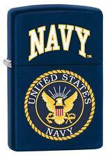 Zippo 3596 United States Navy Seal Navy Blue Matte Finish Full Size Lighter