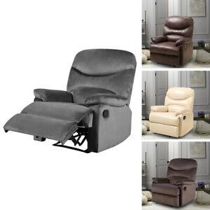 Modern Recliner Chair Single Sofa Armchair Padded Sleeper Lounger w/ Footrest UK