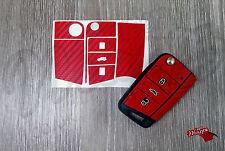 Red in Fibra di Carbonio Decalcomania Sticker VW VOLKSWAGEN GOLF 7 mk7 GTi Skoda Superb Seat