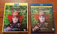 ALICE IN WONDERLAND 3D – BLU-RAY 3D + BLU-RAY + DVD MOVIE + DIGITAL HD