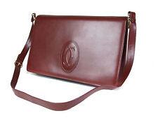 Authentic CARTIER Cartier Must De Vintage Bordeaux Shoulder Bag CS14756L