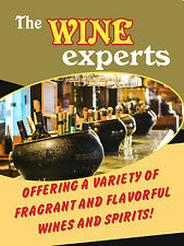 """The Wine Experts Business Liquor Retail Display Sign, 18""""w x 24""""h, Full Color"""