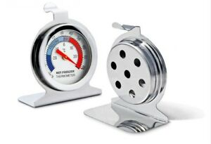 Refrigerator Freezer Thermometer Fridge DIAL Type Stainless Steel Hang Stand