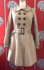SAMPLE MAJE TRENCH COAT JACKET PETER PAN COLLAR USED ONCE IN SHOOT S