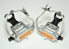 VINTAGE MKS AR-8 BICYCLE TRACK PEDALS WITH CLIPS 9/16 X 20 TPI