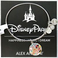 NEW Disneyland Alex And Ani Park Passports Minnie Castle Silver Bangle Bracelet