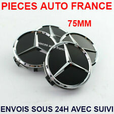 Cache Moyeu Centre Roue Enjoliveur Emblem jante Logo insigne Mercedes 75mm Noir