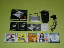 Nintendo DS Konsole Silber PAL OVP CIB + 5 Spiele Top Zustand !!!