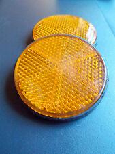 Reflector OJO DE GATO Juego 2 Redondo kunstoff-reflektoren, autoadhesivo NARANJA