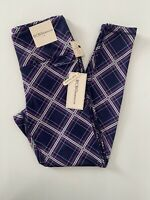 BCBGeneration Leggings Plaid Purple Size Small NWT High Waisted
