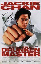 JACKIE CHAN SIGNED THE LEGEND OF DRUNKEN MASTER 11X17 MOVIE POSTER PSA AD48078